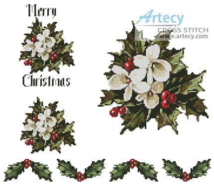 This counted cross stitch pattern was designed by Tereena Clarke of Artecy Cross Stitch. Use the large pattern as a centrepiece and the smaller patterns on ...