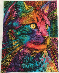 9408c3c97ed (Cats Category) Completed by S DeSantis. Click on image for larger picture.  Purchase this pattern at our Artecy Shop