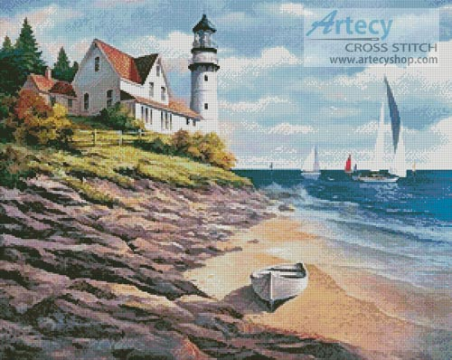 Artecy Cross Stitch Lighthouse Cove Cross Stitch Pattern