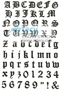 artecy cross stitch olde alphabet large counted cross stitch pattern to print online