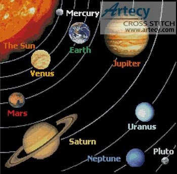 the colors of the planets in solar system - photo #32