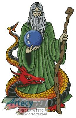 artecy cross stitch wizard dragon cross stitch pattern to print online