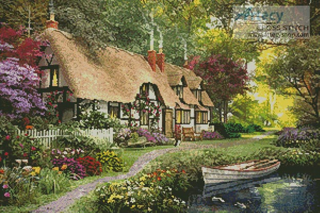 Woodland Walk Cottage Cross Stitch Pattern To Print Online