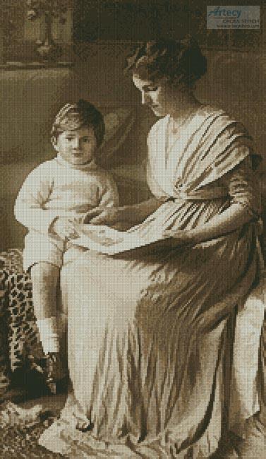Vintage mom son